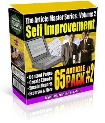 Product picture 65 Self Improvement Articles PLR