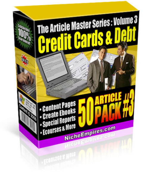 Product picture 50 Credit Cards and Debt Articles PLR