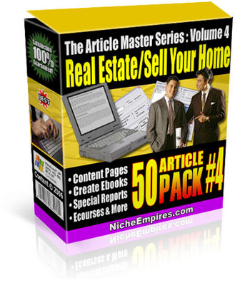 Product picture 50 Real Estate and Selling Your Home Articles PLR
